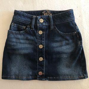 Justice Little girls jeans skirt.